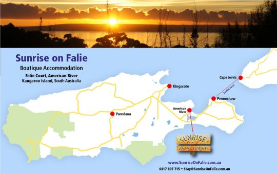 Sunrise on Falie, Accommodation, Kangaroo Island, South Australia